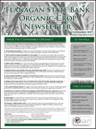 Front Page of the FSB Organic Newsletter for November 2019